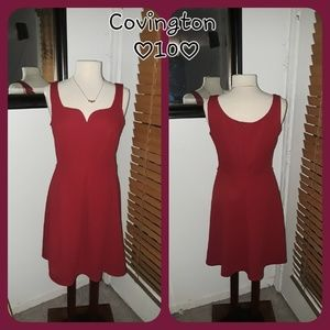 Red dress by Covington